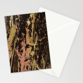 Rose gold & gold marbled Stationery Cards
