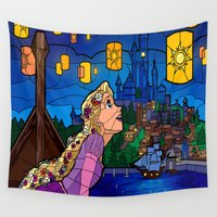 lanterns Wall Tapestries featuring LANTERNS by Chris Thompson, ThompsonArts.com