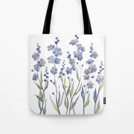 Blue Forget Me Not Blooms Tote Bag