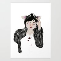 beast Art Prints featuring Beast by The Estuary & the Sea
