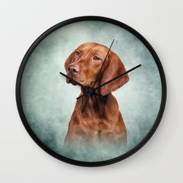 Drawing funny Vizsla Pointer 2 Wall Clock