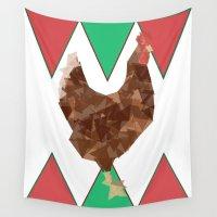 chicken Wall Tapestries featuring Chicken by JDHicks
