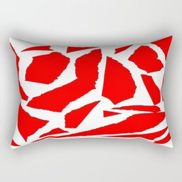 Collage red white Rectangular Pillow