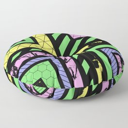 Pastel Corners (Abstract, geometric, textured designs) Floor Pillow