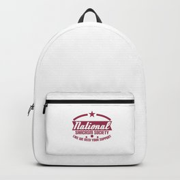 """""""National Sarcasm Society Like We Need Your Support"""" tee designs. Made perfectly for ironic peoples! Backpack"""
