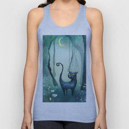 Cat in the forest Unisex Tank Top