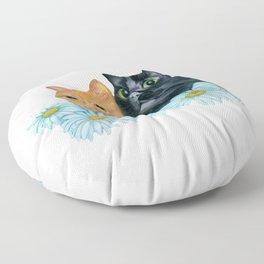 Cats. Best Friends. Floor Pillow