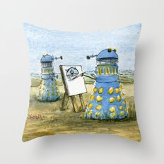Dalek Painting Throw Pillow