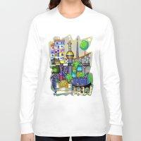 vienna Long Sleeve T-shirts featuring Vienna  by Aleksandra Jevtovic
