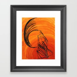 Angel under cover Framed Art Print