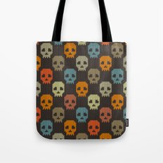 Knitted skull pattern - colorful Tote Bag