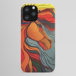 Wild Horse Breaking Free Southwestern Style iPhone Case