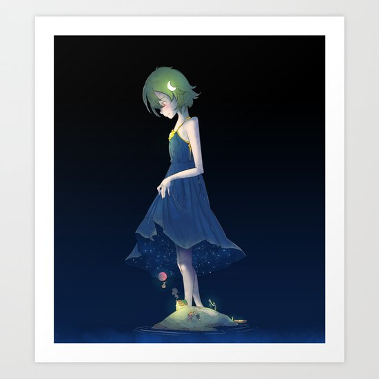 Under the Starry Sky Art Print