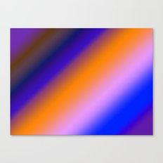 Orange & Blue Stripes Canvas Print
