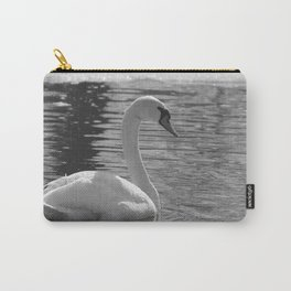 Black and White Swan Carry-All Pouch