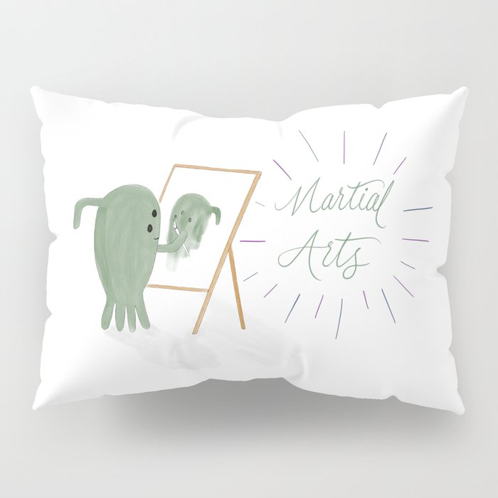Martial Arts - Outer space alien painting a self portrait Pillow Sham