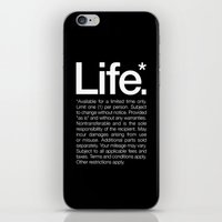 motivational iPhone & iPod Skins featuring Life.* Available for a limited time only. by WORDS BRAND™