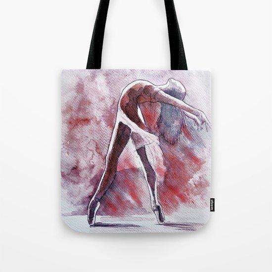Ballet study in pink, watercolor and pastel artwork Tote Bag