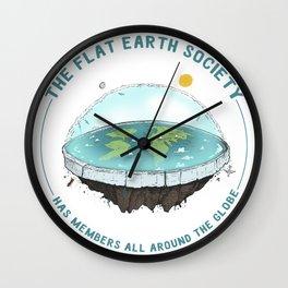 The Flat Earth has members all around the globe Wall Clock