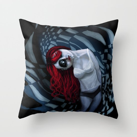 the dark side of my mind hurts Throw Pillow