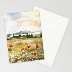Poppies at the Lake Balaton Stationery Cards