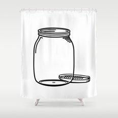 The Empty Jar Shower Curtain