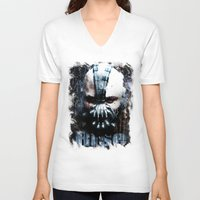 bane V-neck T-shirts featuring Bane: Rise by Sirenphotos