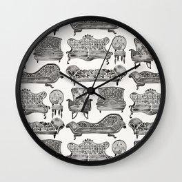 Victorian Lounge – Black Palette Wall Clock