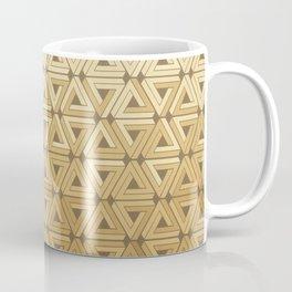 Golden Satin Geometric Coffee Mug
