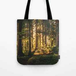 Woods  - Forest, green trees outdoors photography Tote Bag