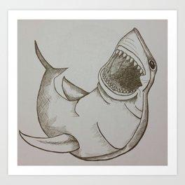 Sharkup Art Print