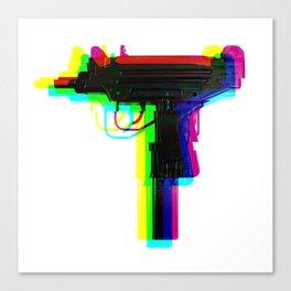 rainbow glitch uzi Canvas Print