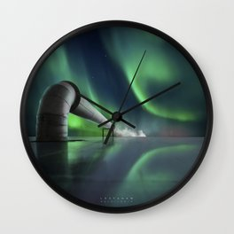 Aurora Borealis Industri Wall Clock