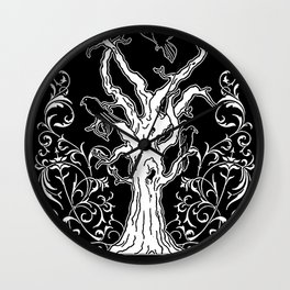 Profane and the Sacred (Tree and Crows) Wall Clock