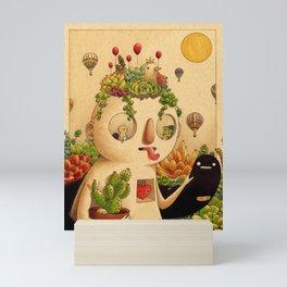 Succulent Man Mini Art Print