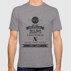 indiana jones X-LARGE Tri-Grey Mens Fitted Tee