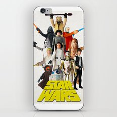 Star War s Vintage Action Figures - First 12 - Square iPhone & iPod Skin