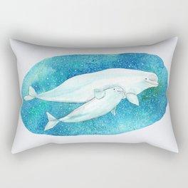 Beluga whales Rectangular Pillow