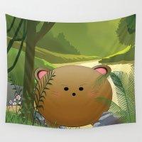 cartoon Wall Tapestries featuring Cartoon dog by Cs025