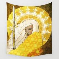 """faith Wall Tapestries featuring Faith by Barbara """"Yuhime"""" Wyrowińska"""