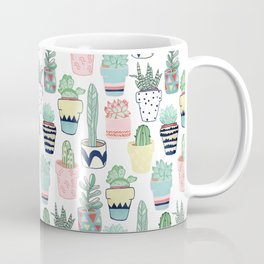 Cute Cacti in Pots Coffee Mug