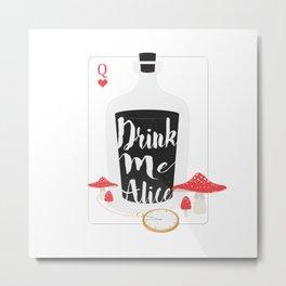 Fairy Tales - Drink Me Alice  Metal Print