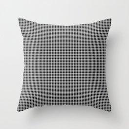 Small White on Black Gingham Squares | Throw Pillow