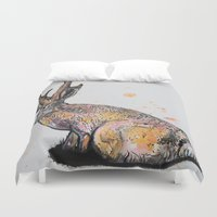 jackalope Duvet Covers featuring Jackalope by Joseph Kennelty