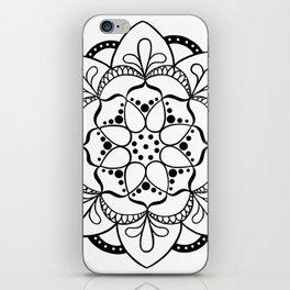 Mandala I - Black and White iPhone Skin
