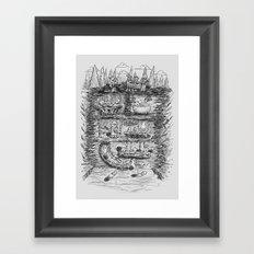 Mr Beaver's Wonder Dam Framed Art Print