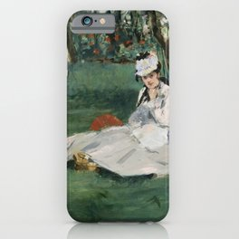 Edouard Manet - The Monet Family in Their Garden at Argenteuil iPhone Case