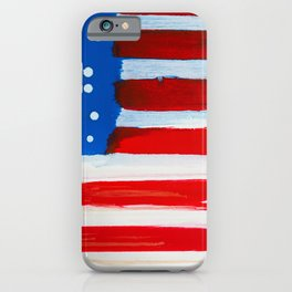 Red, White, and Blue iPhone Case