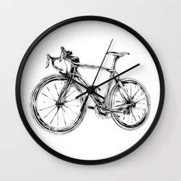 Wooden Bicycle Wall Clock