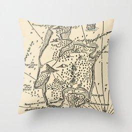 Vintage Treasure Island Pirate Map (1915) Throw Pillow
